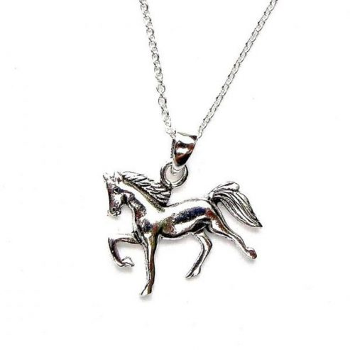 Sterling-Silver-Beautiful-Silver-Horse-Necklace